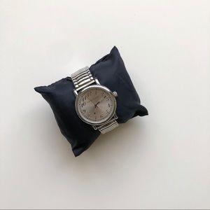 Anne Klein silver stainless steel watch
